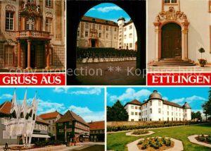 AK / Ansichtskarte Ettlingen Schloss Portal Park Motiv Innenstadt Ettlingen