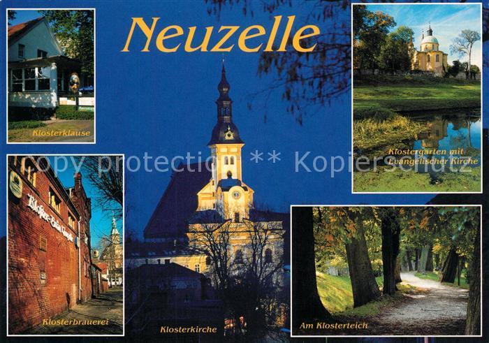 AK / Ansichtskarte Neuzelle Klosterklause Klosterbrauerei Klosterkirche Klosterteich Klostergarten Neuzelle