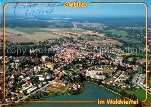 AK / Ansichtskarte Gmuend_Niederoesterreich Grenzstadt im Waldviertel Fliegeraufnahme Gmuend_Niederoesterreich