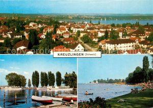 AK / Ansichtskarte Kreuzlingen_TG Blick auf Konstanz Hafen Strandbad Kreuzlingen TG