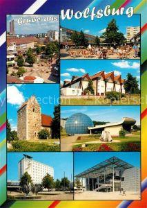 AK / Ansichtskarte Wolfsburg Kirche Spielplatz Wolfsburg