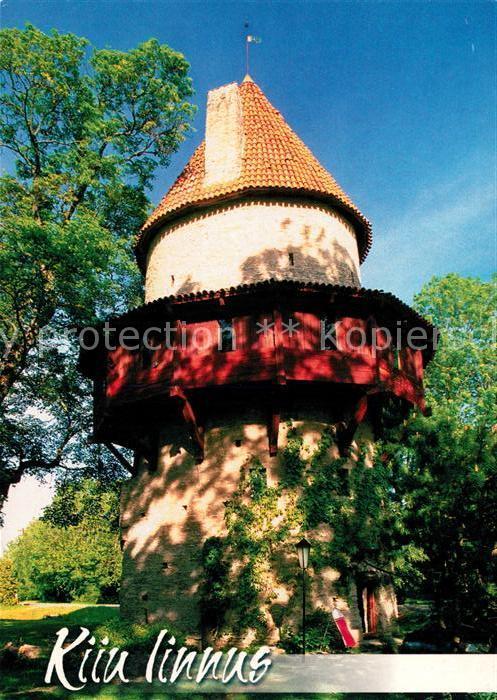 AK / Ansichtskarte Estland Kiu linnus Turm Estland