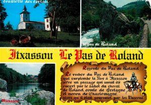 AK / Ansichtskarte Itxassou Ceuillette des cerises La Nive Rocher du Pas de Roland Legende Itxassou