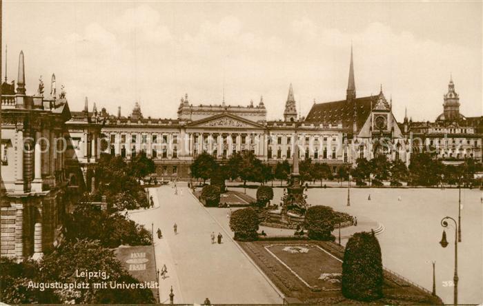 AK / Ansichtskarte Leipzig Augustusplatz mit Universitaet Leipzig