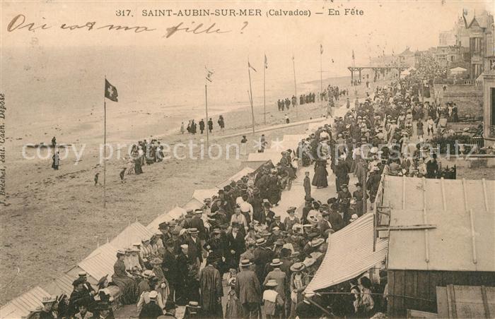 AK / Ansichtskarte Saint Aubin sur Mer_Calvados En Fete Saint Aubin sur Mer