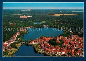 AK / Ansichtskarte Moelln_Lauenburg Luft  und Kneippkurort Naturpark Lauenburgische Seen Fliegeraufnahme Moelln_Lauenburg