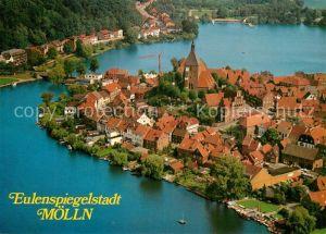AK / Ansichtskarte Moelln_Lauenburg Luft  und Kneippkurort Eulenspiegelstadt Naturpark Lauenburgische Seen Fliegeraufnahme Moelln_Lauenburg