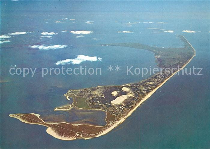 AK / Ansichtskarte Sylt Nordseeinsel Fliegeraufnahme aus 5000 Meter Hoehe Sylt