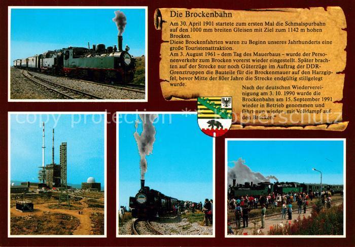 AK / Ansichtskarte Lokomotive Brockenbahn  Lokomotive