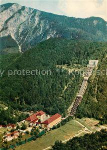 AK / Ansichtskarte Walchensee Kraftwerk Bayernwerk AG Fliegeraufnahme Walchensee