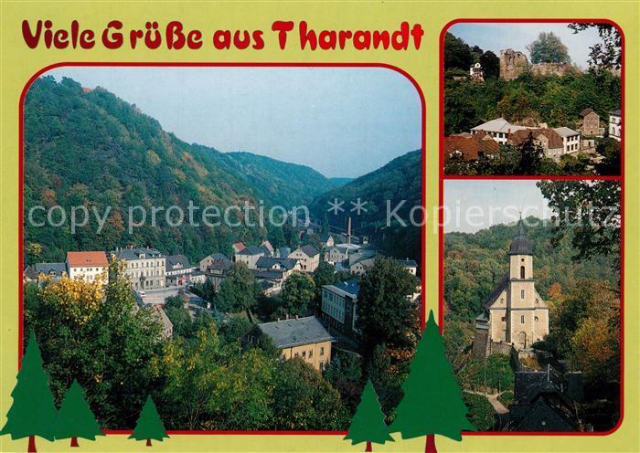 AK / Ansichtskarte Tharandt Burgruine Bergkirche Ortsansicht Tharandt