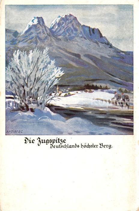 AK / Ansichtskarte Zugspitze Kuenstlerkarte Zugspitze