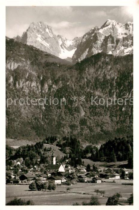 AK / Ansichtskarte Oberaudorf Alpen mit Ellmauer Halt Oberaudorf