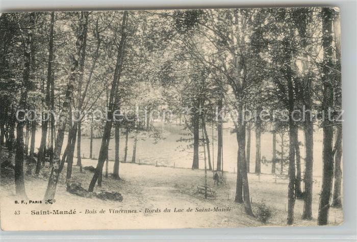 AK / Ansichtskarte Saint Mande_Val de Marne Boisde Vincennes Bords du Lac de Saint Mande Saint Mande Val de Marne