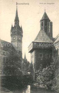 AK / Ansichtskarte Braunschweig Partie am Burggraben Braunschweig