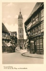 AK / Ansichtskarte Braunschweig Alte Waage und Andreaskirche Braunschweig