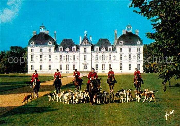 AK / Ansichtskarte Jagd Chateau de Cheverny Jagdreiten Jagd