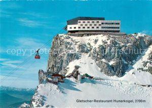 AK / Ansichtskarte Seilbahn Dachstein Suedwandbahn Gletscher Restaurant Hunerkogel Seilbahn