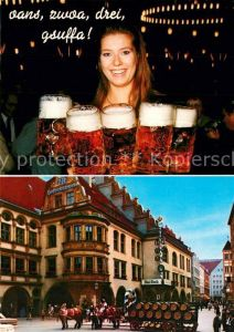 AK / Ansichtskarte Bier Muenchen Hofbraeuhaus  Bier