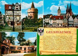 AK / Ansichtskarte Gelnhausen Untermarkt Marienkirche Hexenturm Gelnhausen