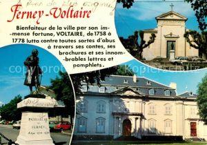 AK / Ansichtskarte Ferney Voltaire Denkmal Kirche  Ferney Voltaire