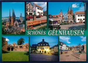 AK / Ansichtskarte Gelnhausen Marienkirche Obermarkt Kaiserpfalz Brunnen  Gelnhausen