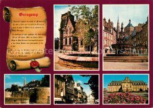 AK / Ansichtskarte Guingamp Bon Secours Basilika Font?ne W?lle alte H?user Rathaus Guingamp