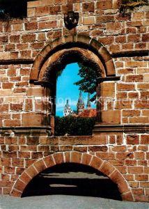 AK / Ansichtskarte Gelnhausen Kaiserpfalz Palasportal Marienkirche Gelnhausen