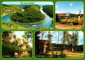 AK / Ansichtskarte Orscholz Gesundheitszentrum Orkelsfels Cloef Atrium Saarschleife Orscholz