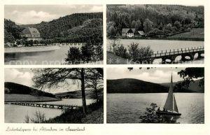AK / Ansichtskarte Attendorn Listertalsperre Details Attendorn