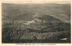 AK / Ansichtskarte Astenberg Blick vom Aussichtsturm Astenberg
