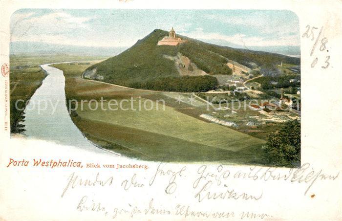 AK / Ansichtskarte Porta_Westfalica Blick vom Jacobsberg Porta_Westfalica