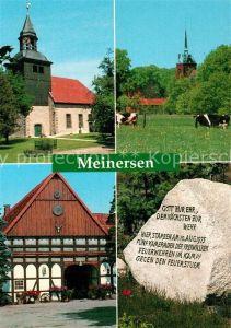 AK / Ansichtskarte Meinersen Kuehe Kirche Fachwerk Meinersen