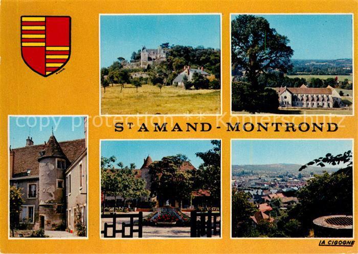 AK / Ansichtskarte Saint Amand Montrond Teilansichten Panorama Saint Amand Montrond