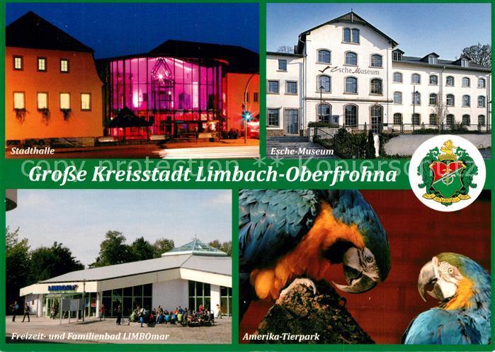 Ak Ansichtskarte Limbachoberfrohna Stadthalle Eschemuseum