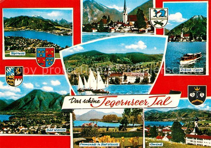 AK / Ansichtskarte Tegernsee Alpenpanorama Tegernseer Tal mit umliegenden Ortschaften Tegernsee