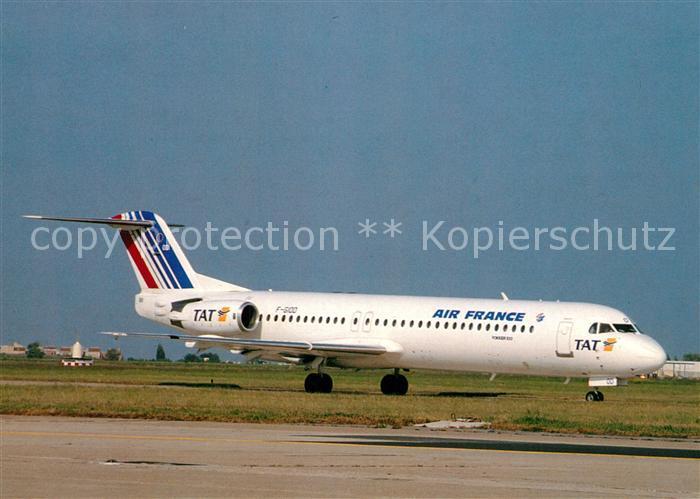 AK / Ansichtskarte Flugzeuge_Zivil Air France TAT Fokker 100 F GIOD  Flugzeuge Zivil