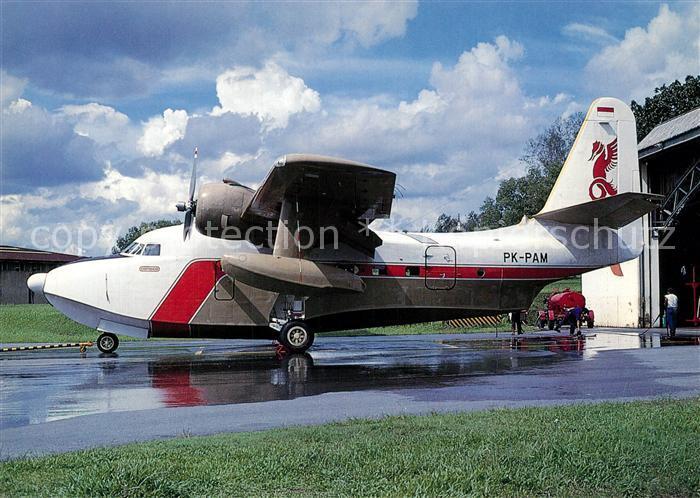 AK / Ansichtskarte Flugzeuge_Zivil Pelita Grumman G 111 Albatros PK PAM c n 148329 Flugzeuge Zivil