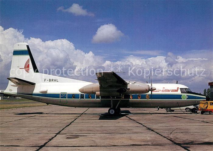 AK / Ansichtskarte Flugzeuge_Zivil Air Littoral Fokker F27 Mk. 200 F BRHL c n 10137 Flugzeuge Zivil