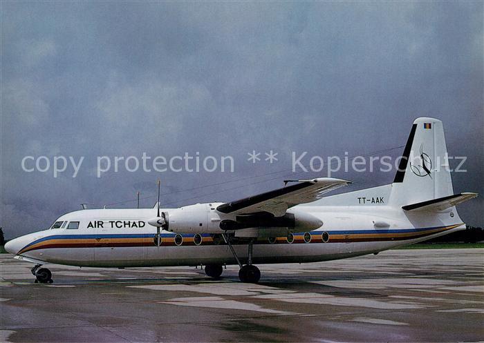 AK / Ansichtskarte Flugzeuge_Zivil Air Tchad Fokker F27 Mk. 600 TT AAK c n 10430 Flugzeuge Zivil