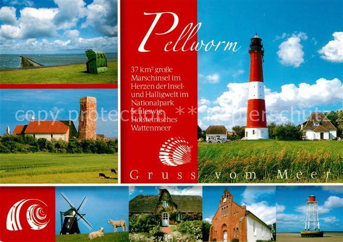 AK / Ansichtskarte Pellworm Leuchtturm Windmuehle Pellworm