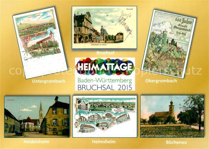 AK / Ansichtskarte Bruchsal Untergrombach Buechenau Helmsheim Bruchsal