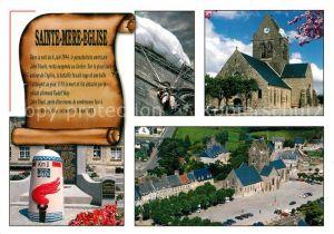 AK / Ansichtskarte Sainte Mere Eglise Place Eglise son celebre clohcer resta  Sainte Mere Eglise