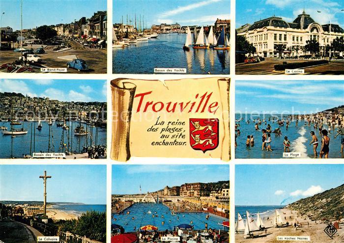 AK / Ansichtskarte Trouville Deauville Calvoire Casino Piscine  Trouville Deauville