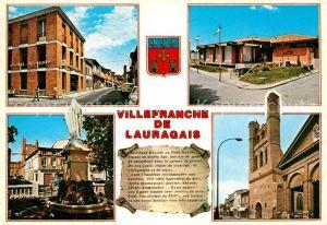 AK / Ansichtskarte Villefranche de Lauragais Rue de Republique Hotel de Ville  Villefranche de Lauragais