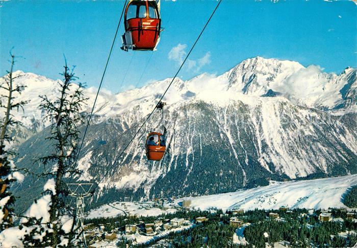 AK / Ansichtskarte Courchevel Telecabine des Chenus Grand Bec Massif de Bellecote Alpes Courchevel