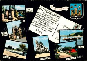 AK / Ansichtskarte Villeneuve sur Yonne Port Camping Eglise  Villeneuve sur Yonne