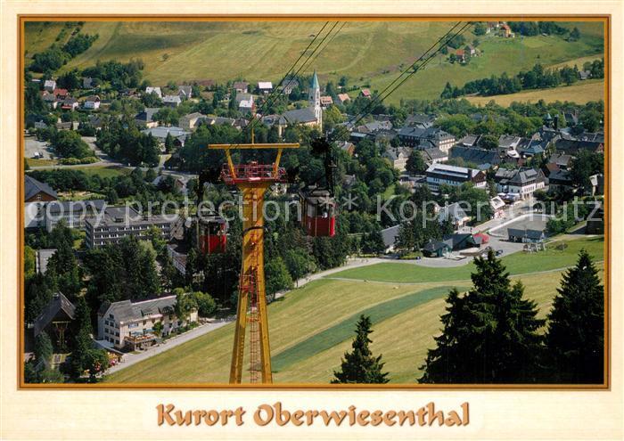 AK / Ansichtskarte Oberwiesenthal_Erzgebirge Ortsansicht Fichtelbergbahn Oberwiesenthal Erzgebirge
