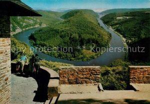 AK / Ansichtskarte Orscholz Blick zur Saarschleife vom Aussichtspunkt Cloef Orscholz