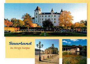 AK / Ansichtskarte Saarland Cloef Atrium Orscholz Schloss Berg Nennig Ludwigskirche Saarbruecken  Saarland